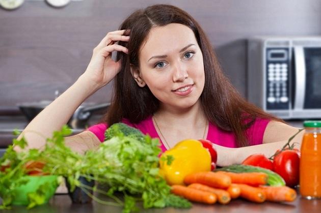 мама и овощи