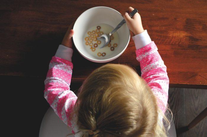 завтрак малышки без груди