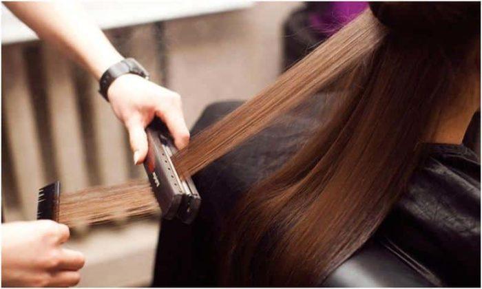 выпрямление волос кератином и гв