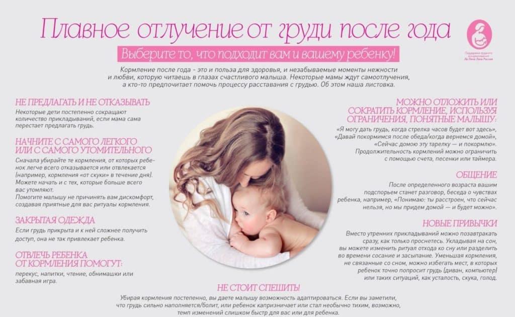 как плавно отучить малыша от груди